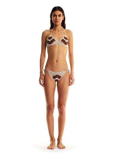 Movom Üçgen Örgü Bikini Takımı Renkli